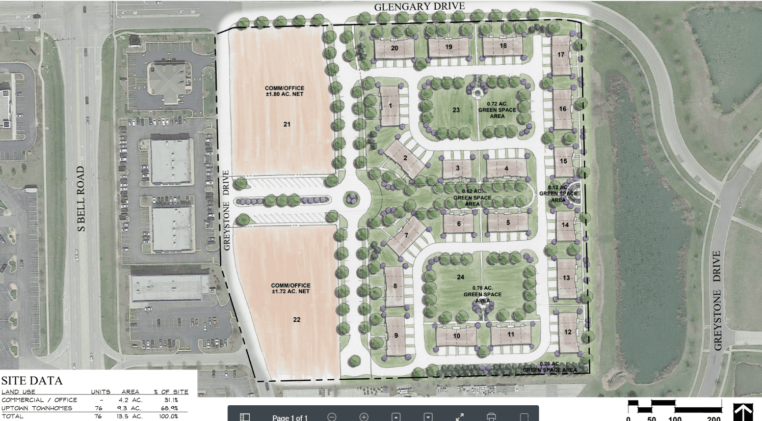 Goodings Grove Site Plan Rendering