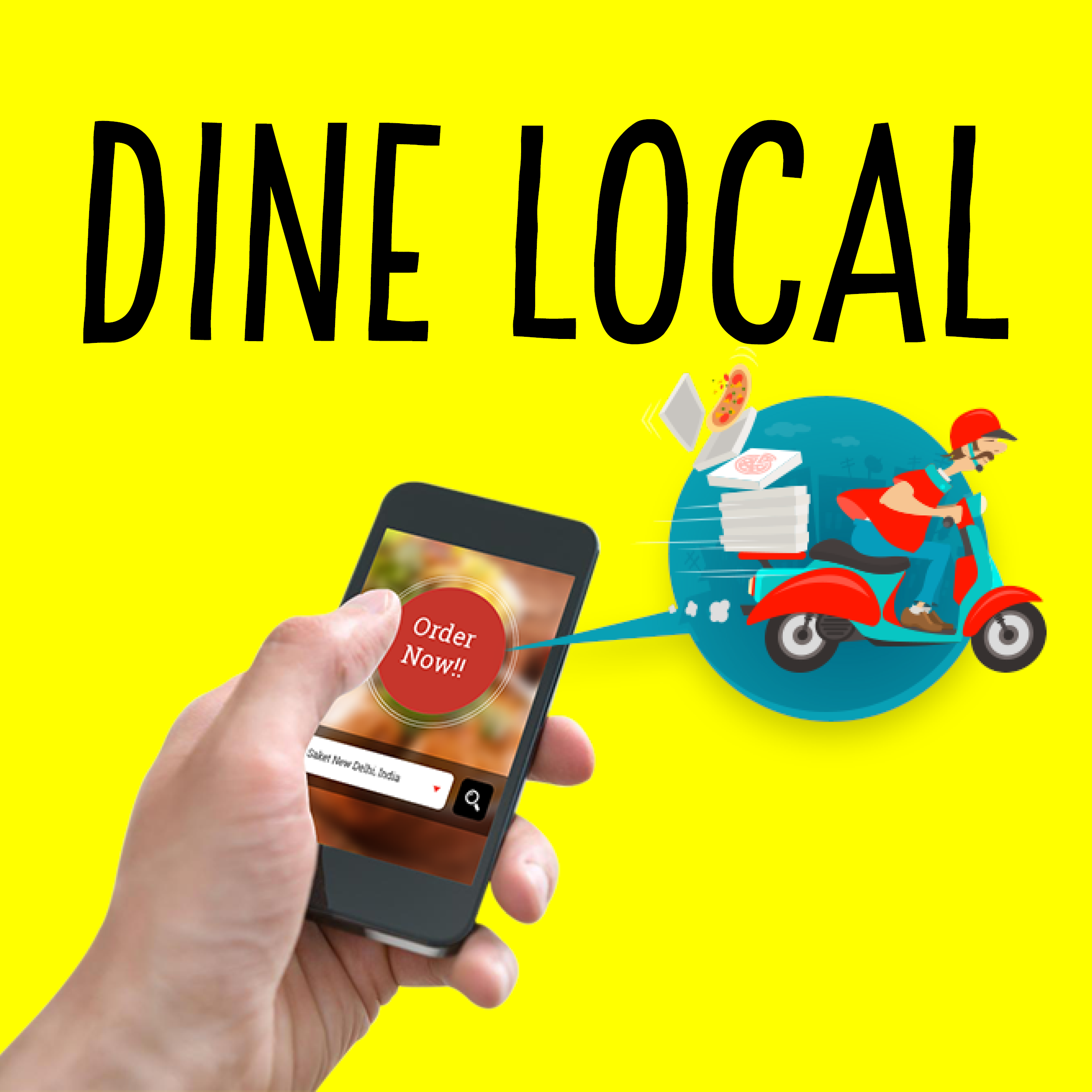 Dine local square