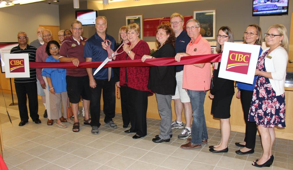 CIBC Banking Center ribbon cutting 09182017