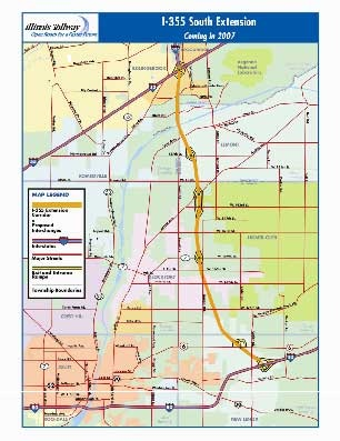 I-355 Tollway Extension Map | Homer Glen, IL - Official Website