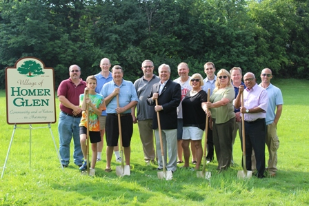 Groundbreaking at the Oak Valley Stormwater Improvement Project